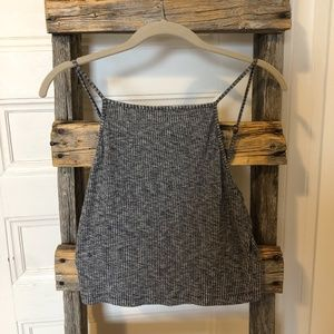 GARAGE Heathered Grey Crop Tank Top